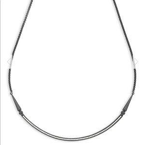 Kendra Scott Scottie Choker Necklace In Gunmetal